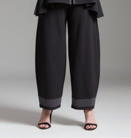 Fat Hat Fat Hat High Flying Gaucho Pants- Black