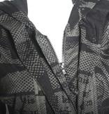 Studio Rundholz Studio Rundholz Zip Front Print Jacket - Anthra
