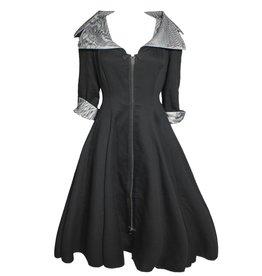 NY77 Design NY77 Design Collared Zip Dress - Black