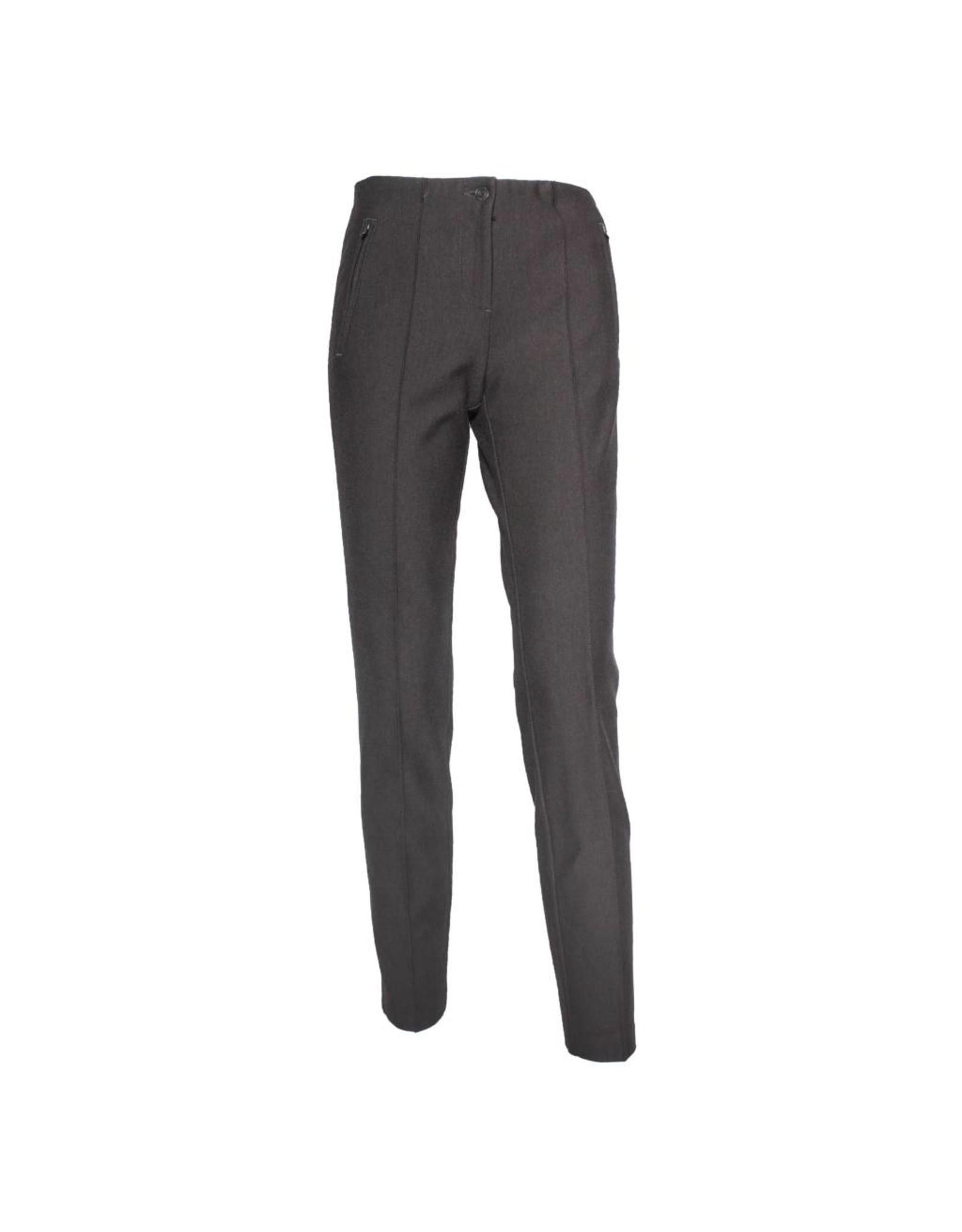 Cambio Cambio Ros Zip Pants - Dark Mahogany