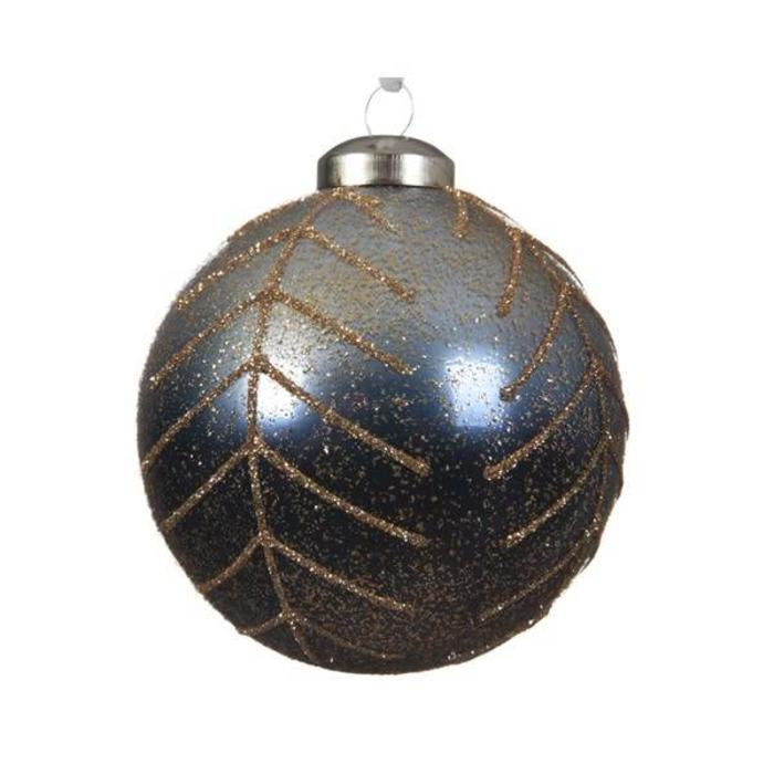 Blue Ombre Glass Bauble