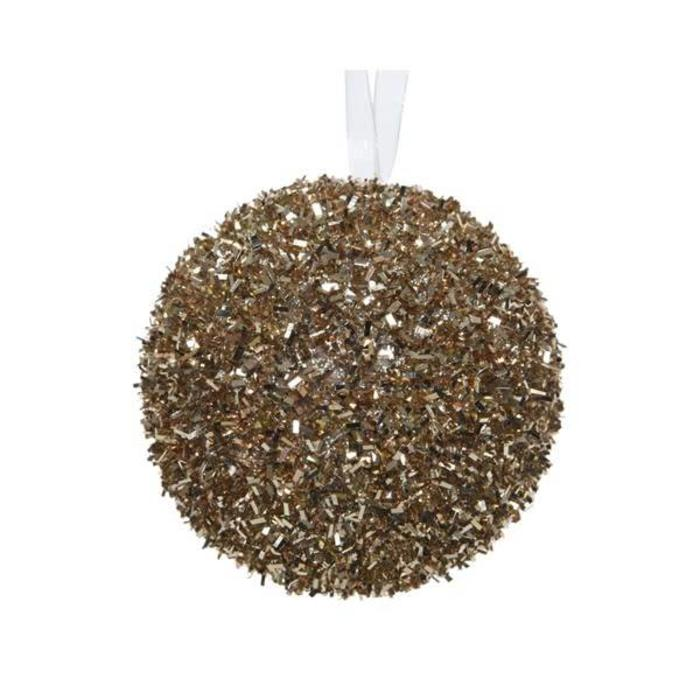 Foam Bauble With Ice Cashmere Brown