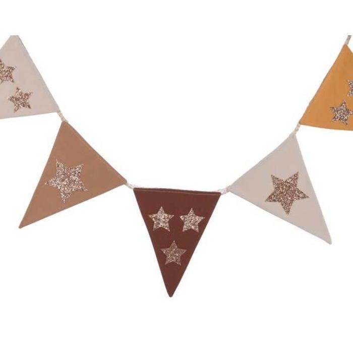 Flag Garland With Stars Brown