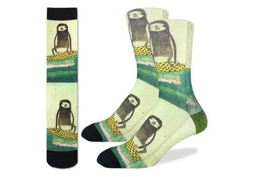 Good Luck Sock Men's Surfing Sloth Socks