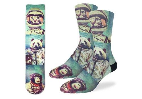 Good Luck Sock Men's Animal Astronauts Socks