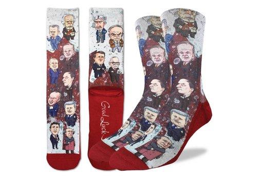 Good Luck Sock Men's Canadian Prime Minister Socks