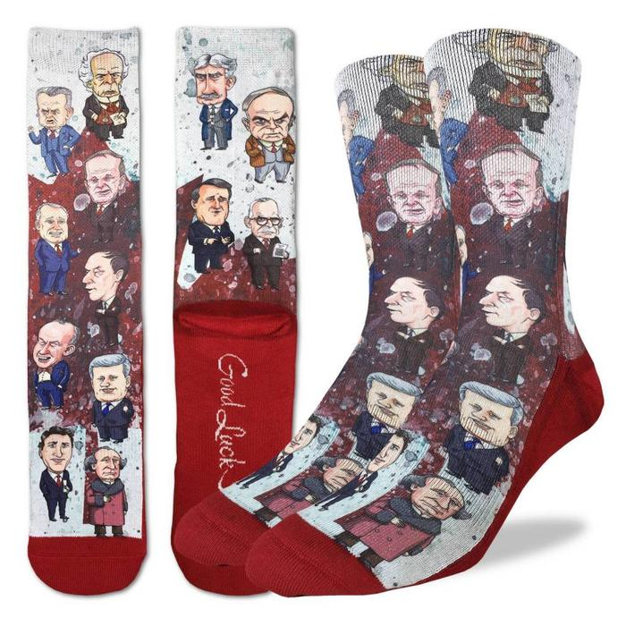 Men's Canadian Prime Minister Socks