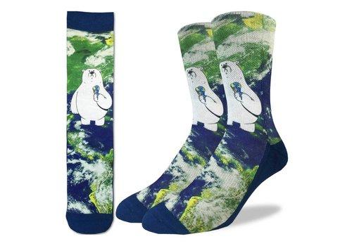 Good Luck Sock Men's Global Warming Polar Bear Socks