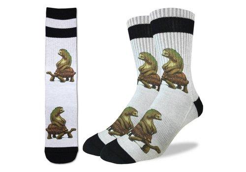 Good Luck Sock Men's Tortoise and the Sloth Socks