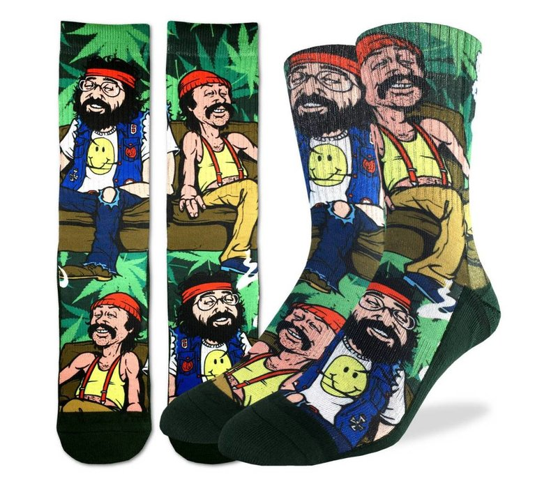 Men's Cheech and Chong on Couch Socks