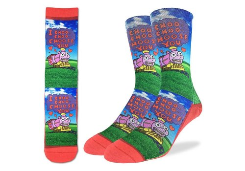 Good Luck Sock Men's Choo Choo Choose You Socks