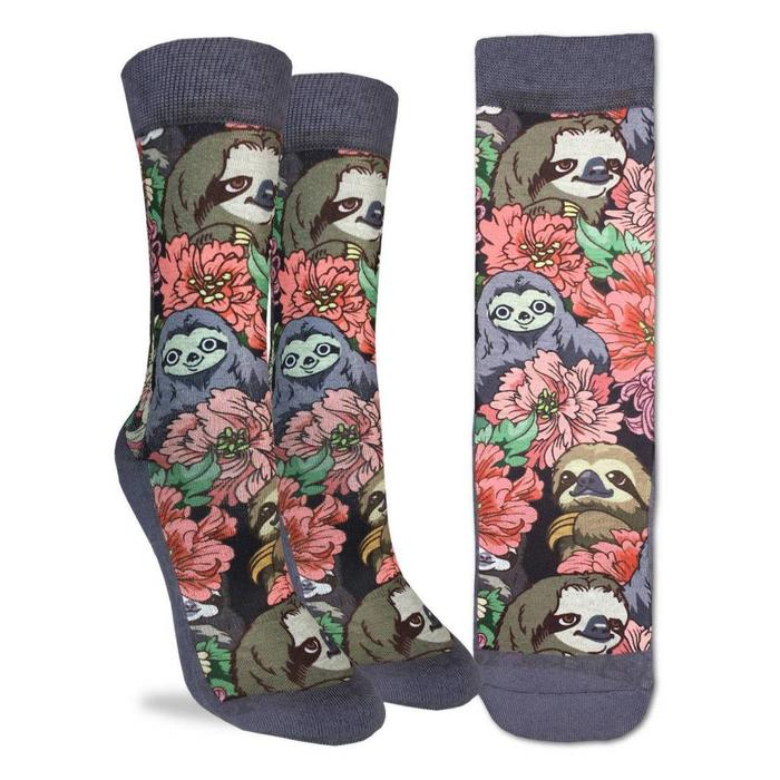 Women's Floral Sloths Socks