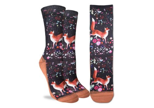 Good Luck Sock Women's Floral Fox Socks