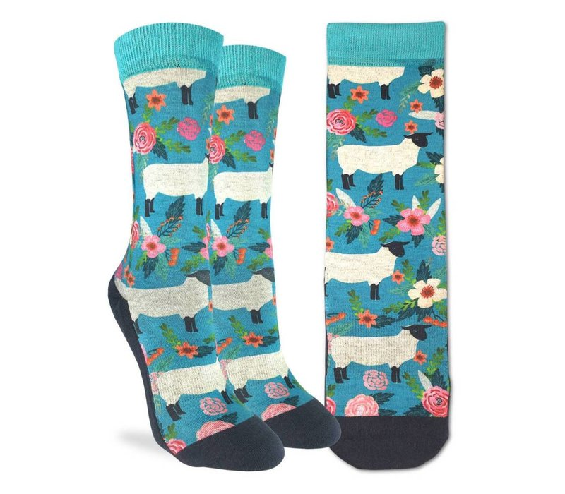 Women's Floral Sheep Socks
