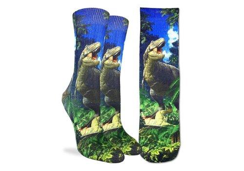 Good Luck Sock Women's T-Rex Dinosaur Socks