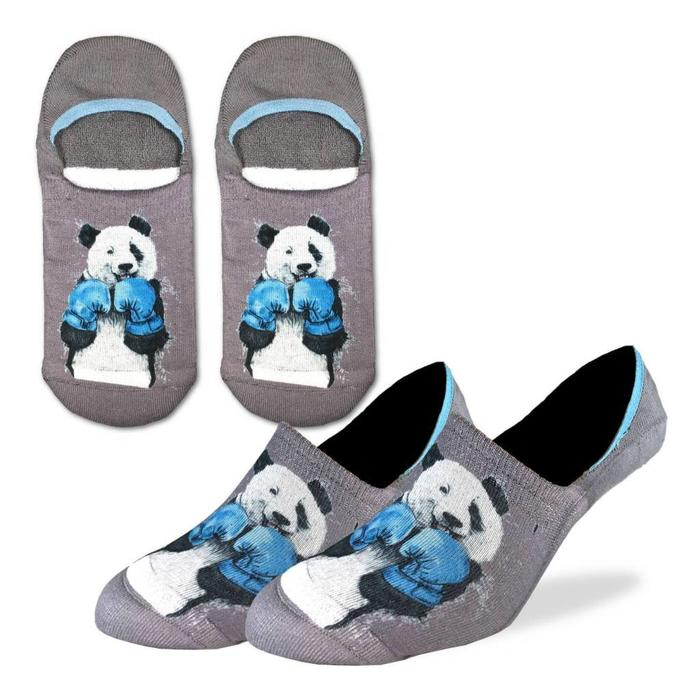 Men's Boxing Panda No Show Ankle Socks