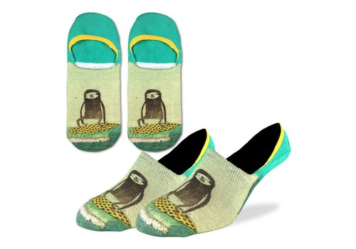 Good Luck Sock Men's Surfing Sloth No Show Ankle Socks