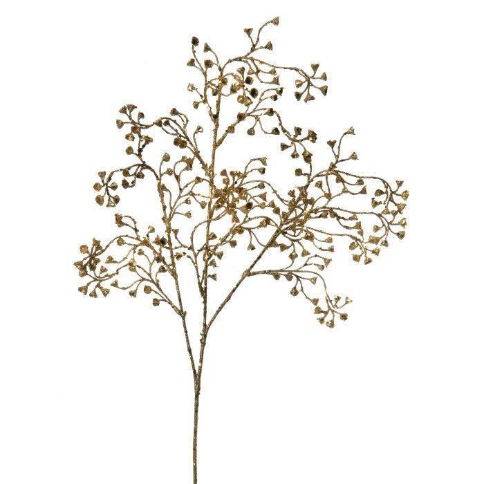 """Glitter Sequin Bell Flower Spray 26"""""""