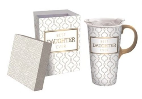 Cypress Home Best Daughter Ever Ceramic Travel Cup 17oz