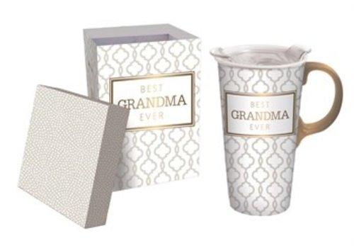 Cypress Home Ceramic Travel Cup Best Grandma Ever 17oz