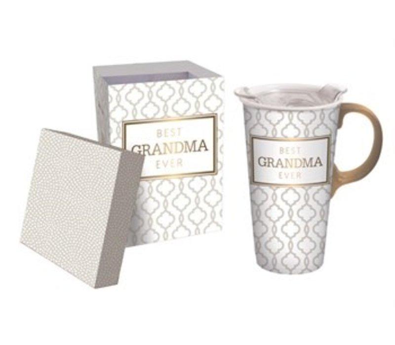 Ceramic Travel Cup Best Grandma Ever 17oz