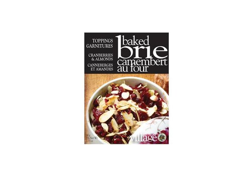 Gourmet Du Village Brie Toppings Cranberries and Almonds