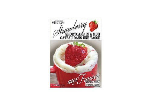 Gourmet Du Village Bakery Mix Cake in a Mug Strawberry