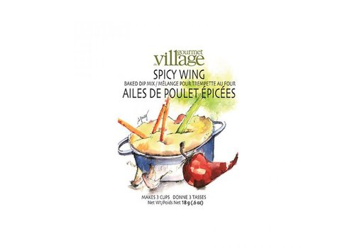 Gourmet Du Village Dip Recipe Box Spicy Wing
