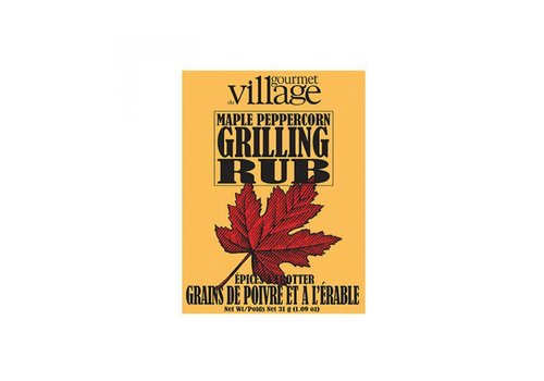 Gourmet Du Village Seasoning Recipe Box Maple Peppercorn