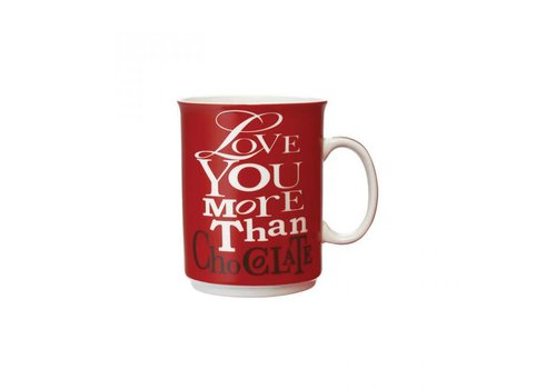 Gourmet Du Village Mug Love You More Than Chocolate