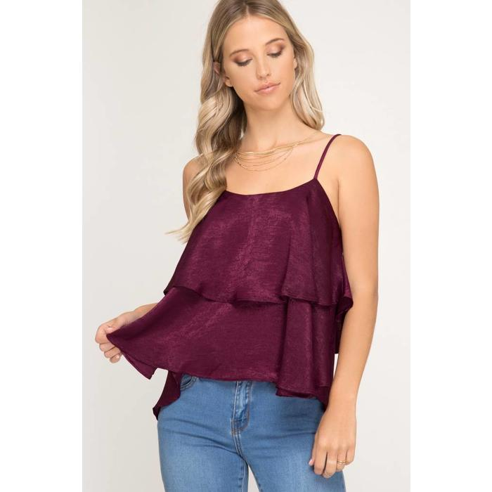 Double Layered Satin Top