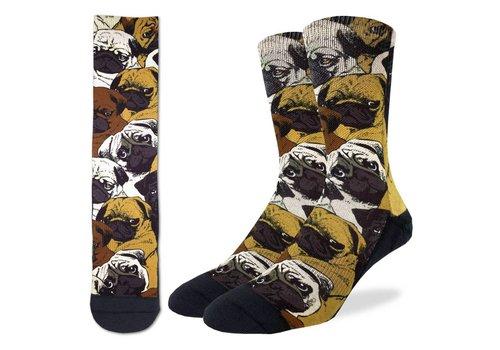 Good Luck Sock Men's Social Pugs Socks
