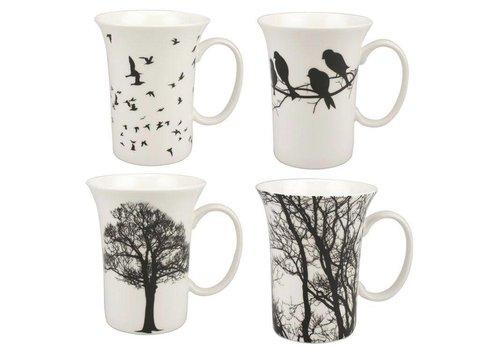 Eternal Silhouette Set of 4 Mugs