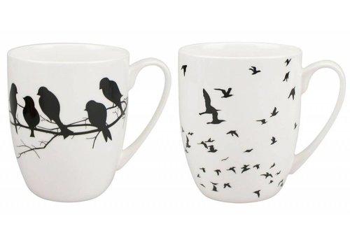 Bird Silhouette Mug Pair