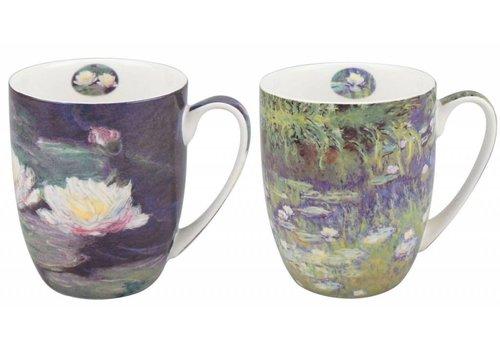 Monet Water Lilies Mug Pair