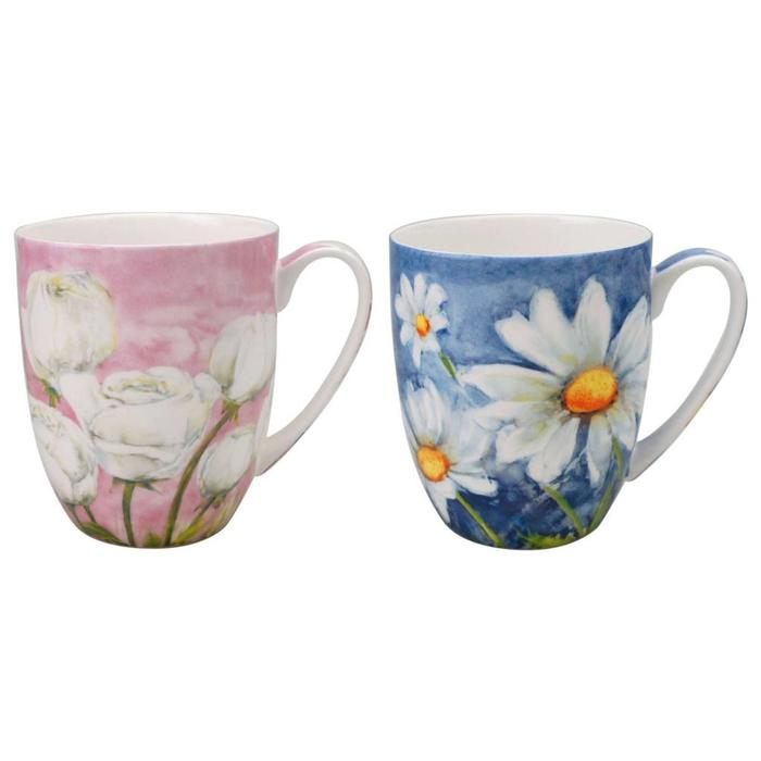 Morning Flowers Mug Pair