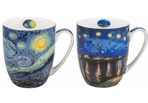 Van Gogh Starry Night Mug Pair