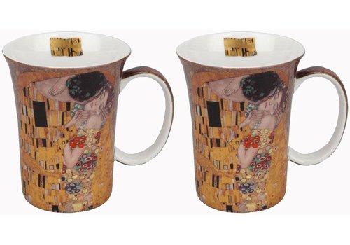 Klimt The Kiss Set of 2 Mugs