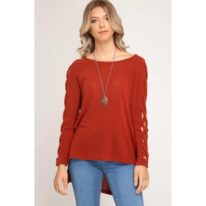 Hi Low Strappy Open Detail Top