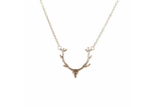 Park & Buzz Antler Mini Metal Necklace