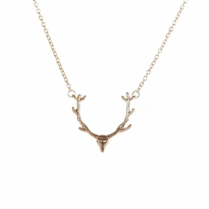 Antler Mini Metal Necklace
