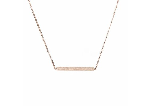 Park & Buzz Glitter Bar Mini Metal Necklace