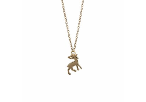 Park & Buzz Mini Metal Necklace Deer