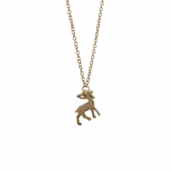 Mini Metal Necklace Deer