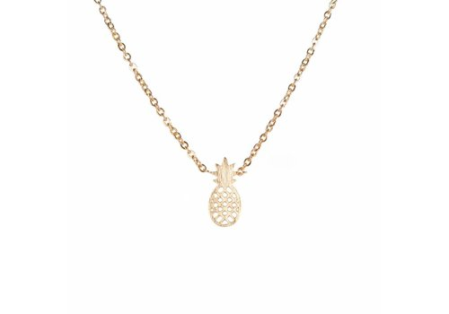 Park & Buzz Pineapple Mini Metal Necklace