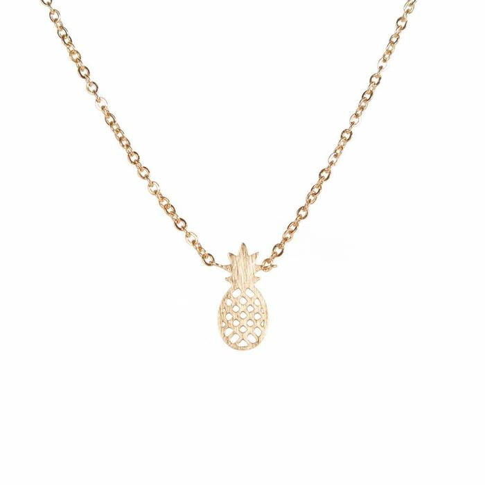 Pineapple Mini Metal Necklace