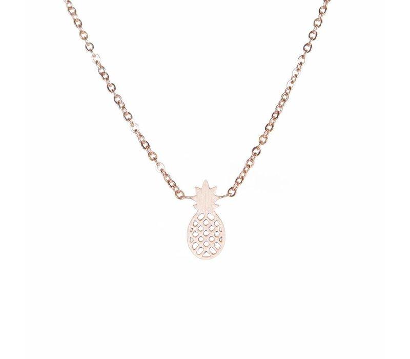 Pineapple Mini Metal Necklace