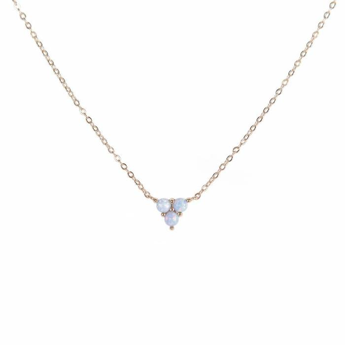 Mermaid Trio Blue Opal Necklace