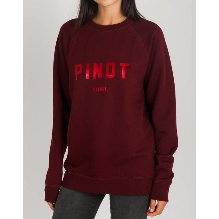 4011a996 Pinot Please Crew Burgundy