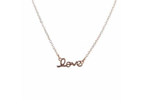 Park & Buzz Mini Metal Necklace Love